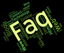 Faq Word Represents Frequently Asked Questions And Answer Stock Illustration