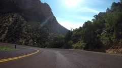 Zion National Park Vehicle Point of View Time Lapse Stock Footage