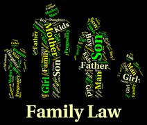 Family Law Represents Blood Relation And Attorney Stock Illustration