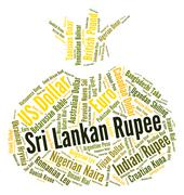 Sri Lankan Rupee Indicates Forex Trading And Coin Stock Illustration
