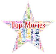 Top Rated Shows Hollywood Movies And Entertainment Stock Illustration