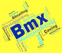 Bmx Bike Words Indicates Text Riding And Biking Piirros