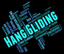 Hang Gliding Represents Hanggliders Glide And Glider Stock Illustration