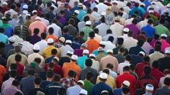 Muslim Prayers Stock Footage
