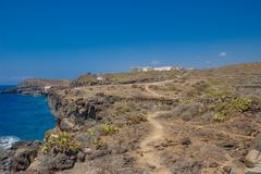 Volcanic coast in Callao Salvaje in Tenerife south. Stock Photos
