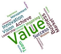 Value Words Means Quality Assurance And Approve Stock Illustration