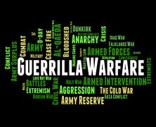 Guerrilla Warfare Shows Resistance Fighter And Clashes Stock Illustration