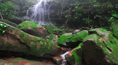 Saithip waterfall in Phu Soi Dao National Park Stock Footage