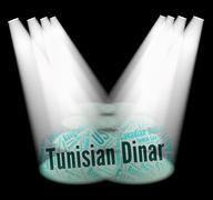 Tunisian Dinar Indicates Exchange Rate And Banknotes Stock Illustration