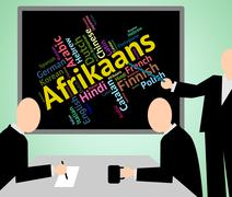 Afrikaans Language Means South Africa And Dialect Stock Illustration