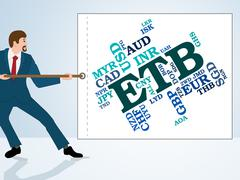 Etb Currency Means Foreign Exchange And Ethiopia Stock Illustration