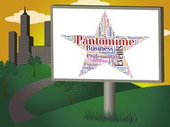Pantomime Star Represents Stage Theaters And Dramas Stock Illustration