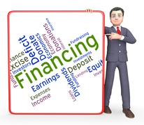 Financing Word Indicates Profit Trading And Accounting Stock Illustration