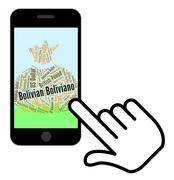 Bolivian Boliviano Indicates Forex Trading And Bob Stock Illustration