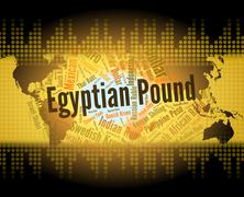 Egyptian Pound Means Forex Trading And Egp Stock Illustration
