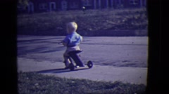 1946: toddlers is seen on cycle DETROIT, MICHIGAN Stock Footage