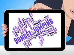 Bungee Jumping Represents Extreme Sport And Adventure Stock Illustration