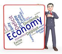 Economy Word Means Micro Economics And Economical Stock Illustration