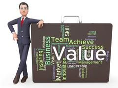 Value Words Indicates Quality Control And Approval Stock Illustration