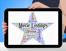 Movie Listings Shows Hollywood Movies And Catalogs Piirros