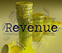 Revenue Word Represents Wage Earns And Salaries Stock Illustration