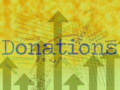 Donation Word Indicates Donate Give And Supporter Stock Illustration