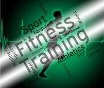 Fitness Training Represents Physical Activity And Exercise Stock Illustration