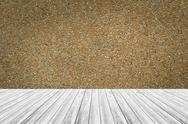 Wall texture surface with Wood terrace Stock Photos