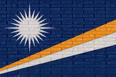 Flag of The Marshall Islands Wall Stock Illustration