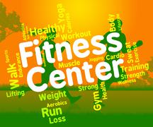 Fitness Center Represents Working Out And Exercising Piirros