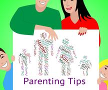 Parenting Tips Represents Mother And Baby And Assistance Stock Illustration
