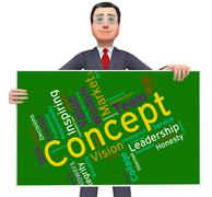 Concept Word Means Abstraction Thinking And Invention Stock Illustration