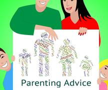 Parenting Advice Means Mother And Child And Tips Stock Illustration
