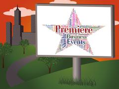Premiere Star Shows First Night And Opening Stock Illustration