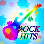 Rock Hits Showing Music Charts And Soundtrack Stock Illustration