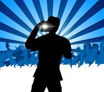 Concert Photographer Indicating Entertainment Camera And Photography Stock Illustration