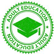 Adult Education Representing Tutoring Studying And Mature Stock Illustration