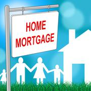 Home Mortgage Meaning Properties Housing And Habitation Stock Illustration