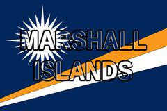 Flag of The Marshall Islands Word Stock Illustration