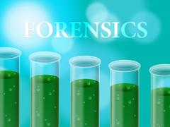 Forensics Research Representing Study Examine And Science Stock Illustration