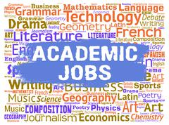 Academic Jobs Representing Education Colleges And Learn Stock Illustration