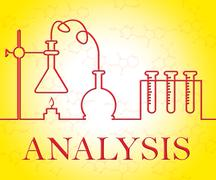Analysis Research Representing Data Analytics And Researcher Stock Illustration