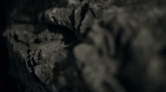 Close-up stone passage in the cave Stock Footage