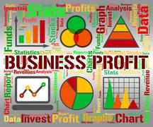 Business Profit Showing Infograph Investment And Corporate Stock Illustration