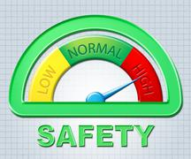 High Safety Representing Warning Excess And Higher Stock Illustration