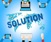 Online Solution Representing Network Goal And Www Stock Illustration