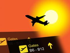 Vacation Abroad Meaning Airplane Flying And Vacationing Stock Illustration