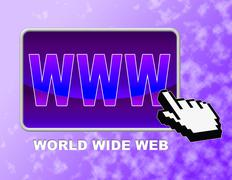 Www Button Indicating Web Site And Control Stock Illustration