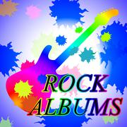 Rock Albums Representing Sound Track And Record Stock Illustration