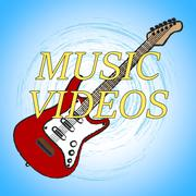 Music Videos Showing Audio Visual And Track Stock Illustration